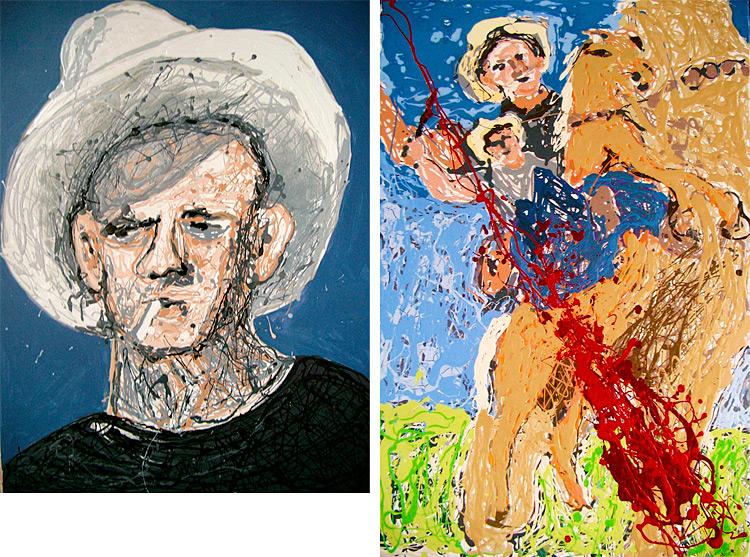Cowboy Jack and Painting From Horseback